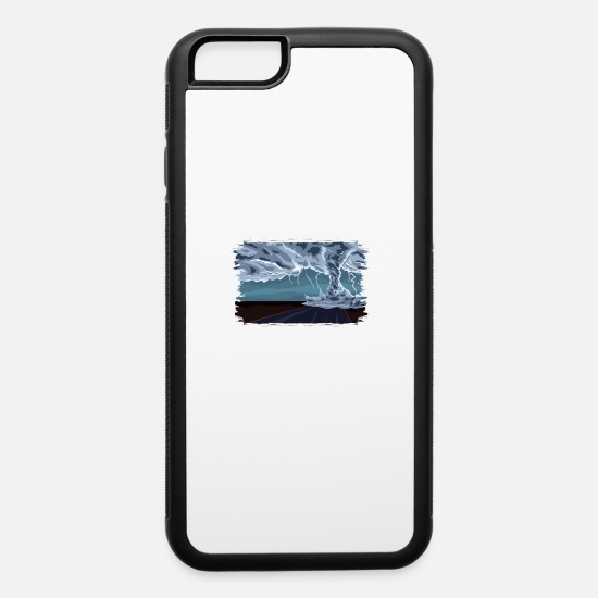 Rain iPhone Cases - WEATHER EXPERT: Storm Chasing Gift - iPhone 6 Case white/black