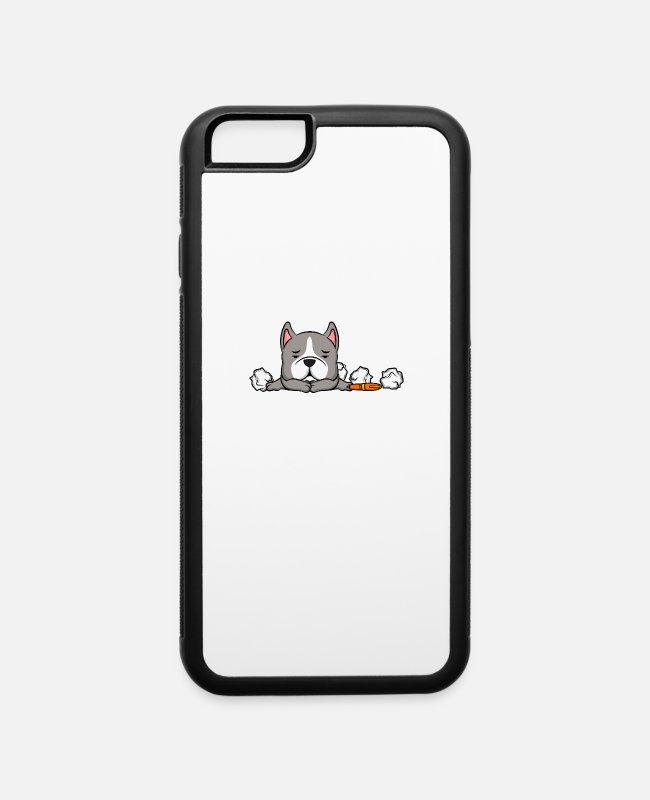 Training iPhone Cases - Cute Pitbull Dog Lover Office Humor - iPhone 6 Case white/black
