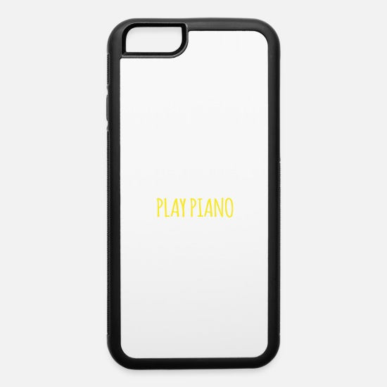 Piano iPhone Cases - Eat Sleep Play Piano Repeat - iPhone 6 Case white/black