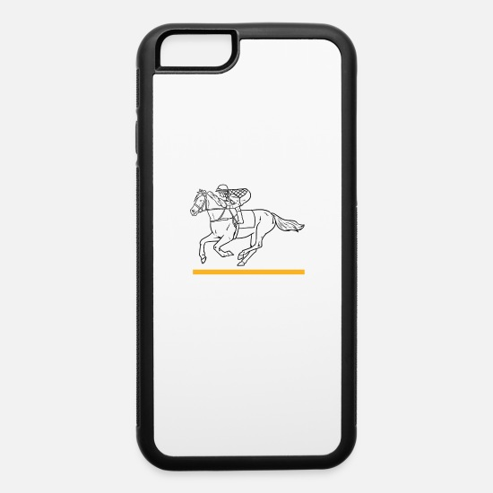 Mare iPhone Cases - Horse stallion pony horses riding gift mare - iPhone 6 Case white/black