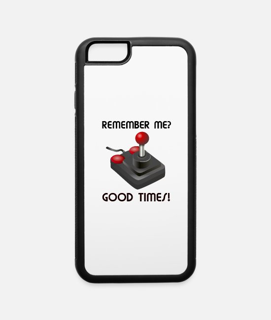 Nostalgic iPhone Cases - Remember me joystick good times nostalgic design - iPhone 6 Case white/black