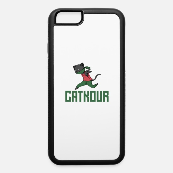 Birthday iPhone Cases - Parkour Cat Ninja - iPhone 6 Case white/black