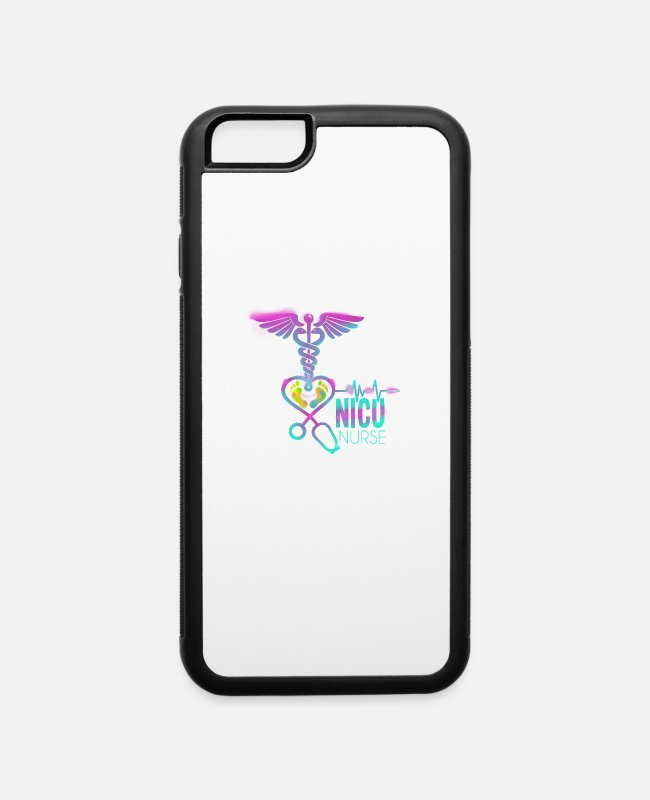 Nursing School iPhone Cases - Womens NICU Nurse Gift Print Labor And Delivery - iPhone 6 Case white/black