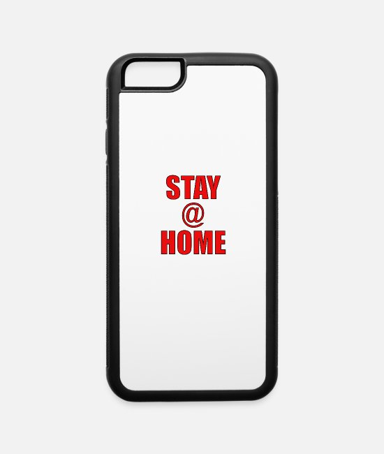 Virus iPhone Cases - Stay @ Home design - iPhone 6 Case white/black