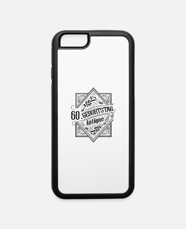 Antique iPhone Cases - Antique Vintage 60th Birthday - iPhone 6 Case white/black