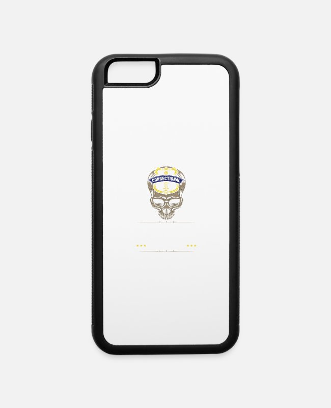 Arrest iPhone Cases - Design for Proud Correctional Officer - iPhone 6 Case white/black