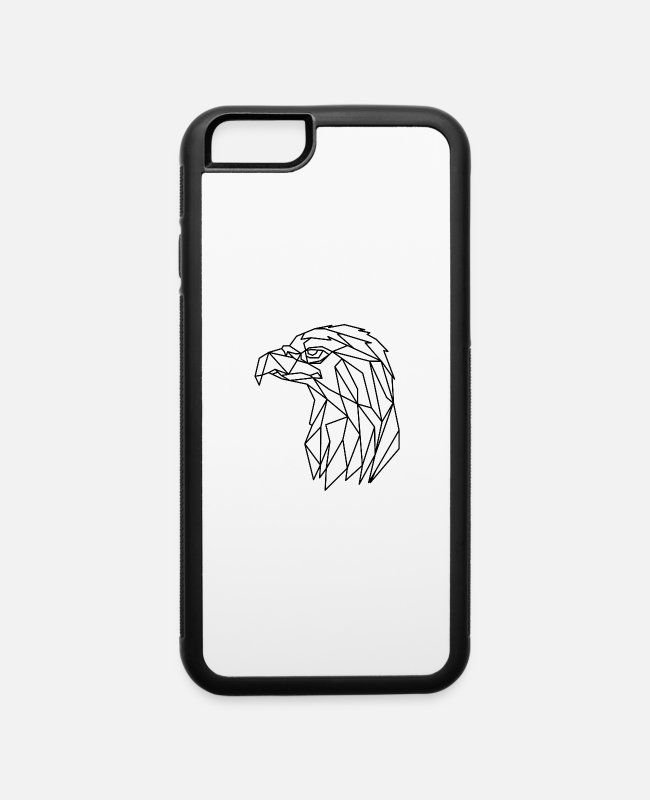Geometry iPhone Cases - Geometric Line Art - iPhone 6 Case white/black