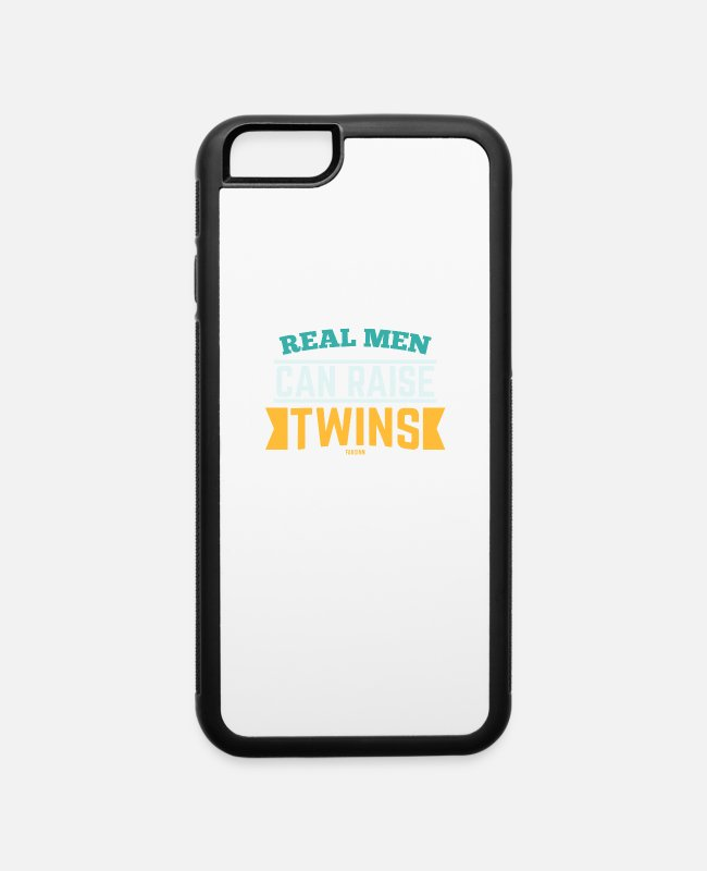 Sibling Love iPhone Cases - Papa Father's Day siblings twins - iPhone 6 Case white/black
