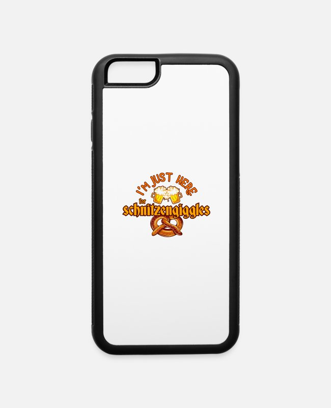 Design iPhone Cases - Oktoberfest I'm Just Here For Beer Alcohol - iPhone 6 Case white/black