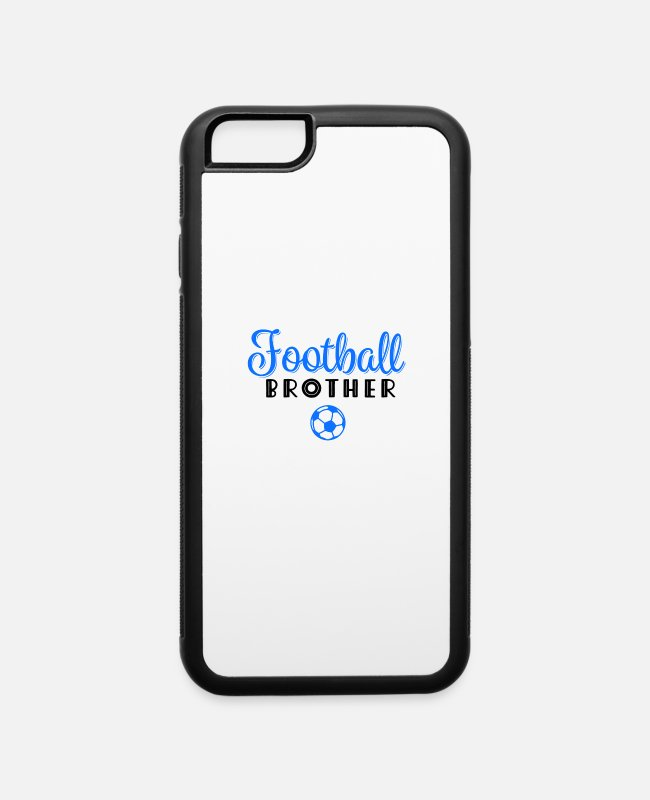 Heart iPhone Cases - Family Siblings Football Brother Love - iPhone 6 Case white/black