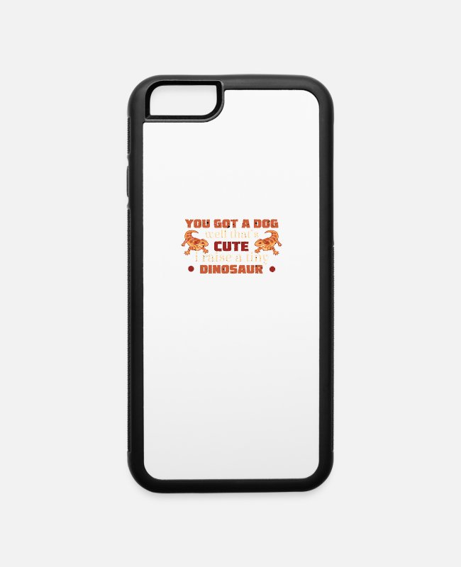 Beard iPhone Cases - Funny Bearded Dragon Reptile Breeder Pogona - iPhone 6 Case white/black