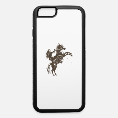Feet Up Girl with horse rearing up on two feet sketch gift - iPhone 6 Case