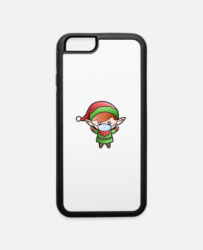 Office iPhone Cases - Santa Claus Elf Home Office Funny office humor - iPhone 6 Case white/black