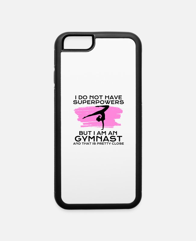 Gymnast iPhone Cases - gymnast with superpowers - iPhone 6 Case white/black