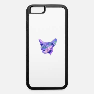 Demonic Cat Grumpy Sphynx Cat - Funny Wrinkly Naked Kitty - Bl - iPhone 6 Case