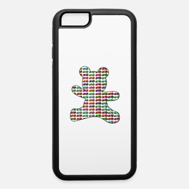 Race Car Outline teddy bear filled with cars - iPhone 6 Case