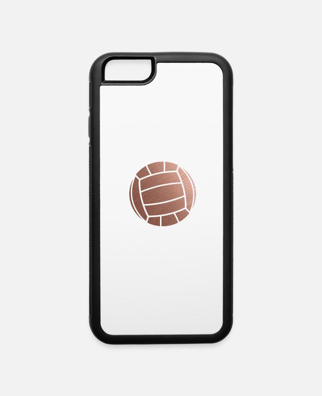 Gold iPhone Cases - Rose Gold Volleyball Setter - iPhone 6 Case white/black