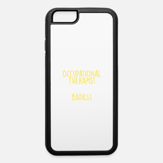 Career iPhone Cases - 49% Occupational Therapist 51% Badass - iPhone 6 Case white/black