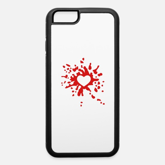 Love iPhone Cases - Bloody Heart - iPhone 6 Case white/black