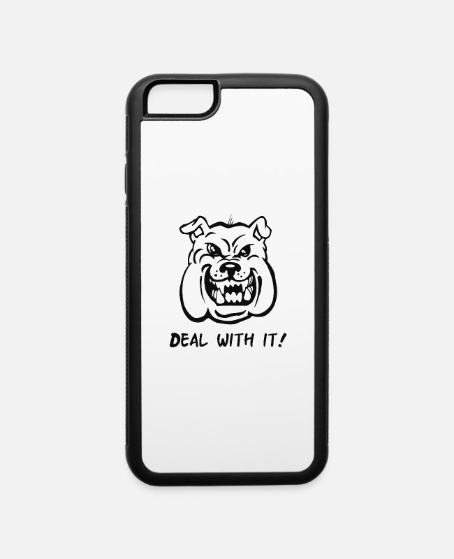 Movie iPhone Cases - Deal With It Angry Pitbul - iPhone 6 Case white/black