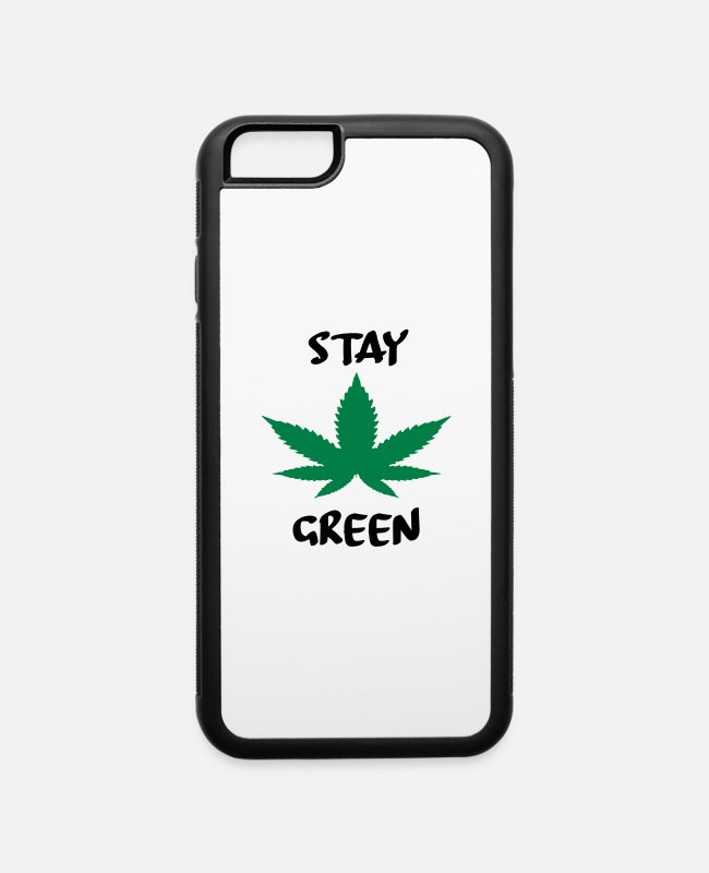 Greenman iPhone Cases - stay green - iPhone 6 Case white/black