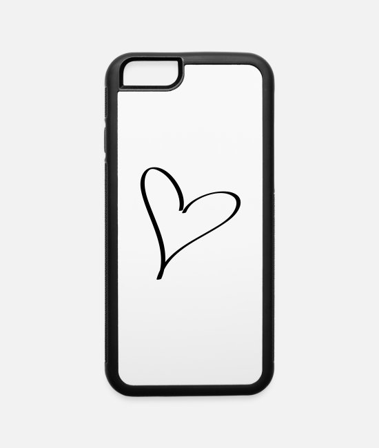 Amor iPhone Cases - heart - iPhone 6 Case white/black