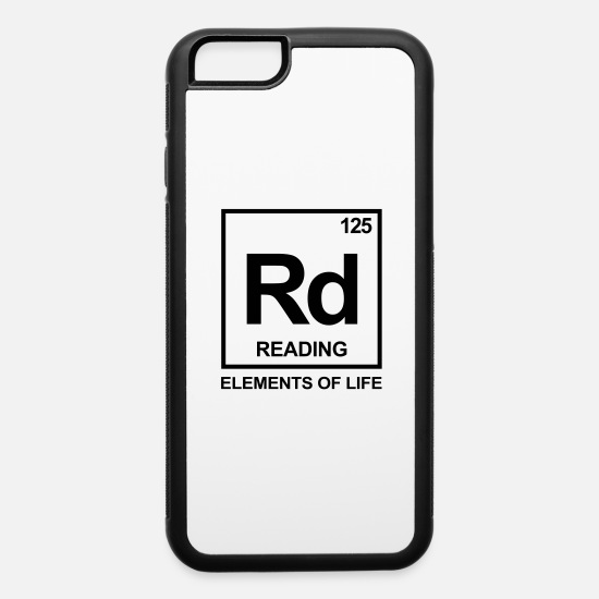 Read iPhone Cases - Elements of life: 125 reading periodic table - iPhone 6 Case white/black
