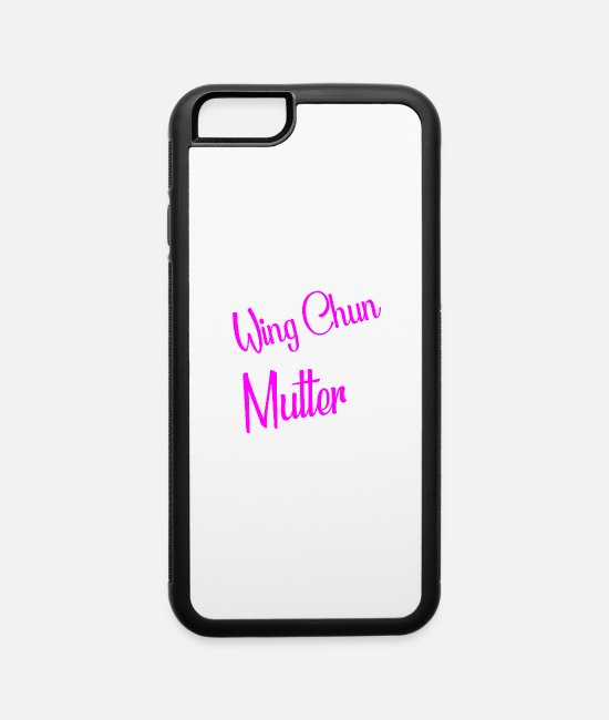 Martial Arts iPhone Cases - Wing Chun Mutte Mama Trainer - iPhone 6 Case white/black
