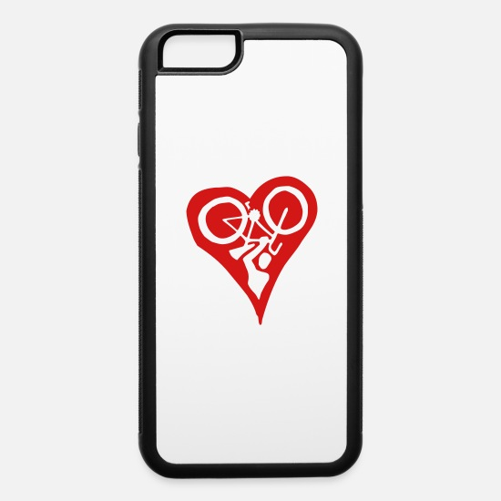 Love iPhone Cases - Velolove Bicycle Heart Bike Holdup Single Colour - iPhone 6 Case white/black