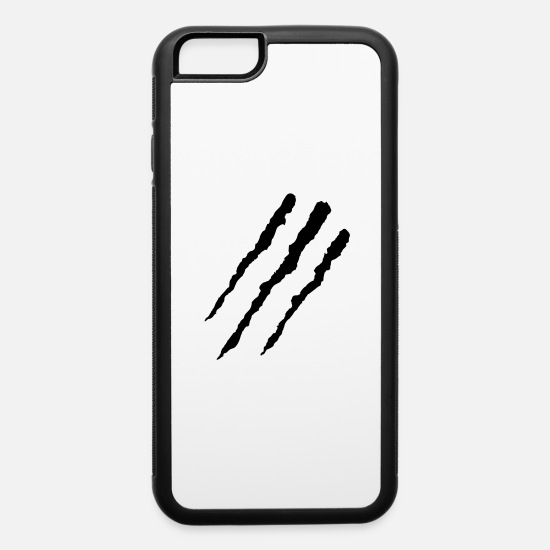Tiger iPhone Cases - Claw Marks - iPhone 6 Case white/black