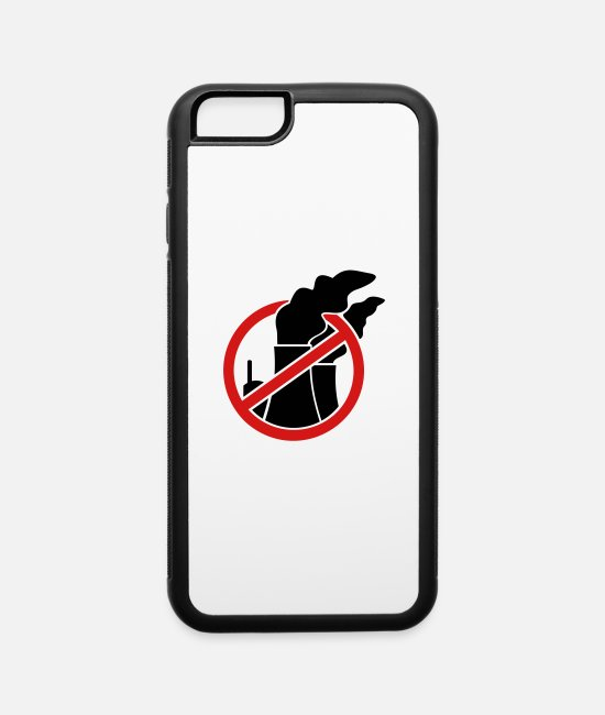 Red iPhone Cases - Against nuclear power - iPhone 6 Case white/black