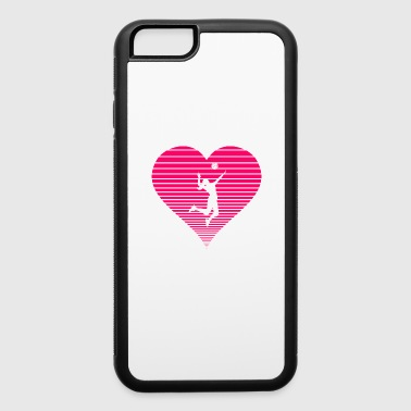 Volleyball girl woman lady hear love - iPhone 6/6s Rubber Case