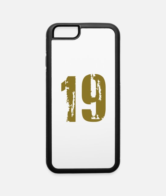 Number iPhone Cases - 19 - Number - iPhone 6 Case white/black