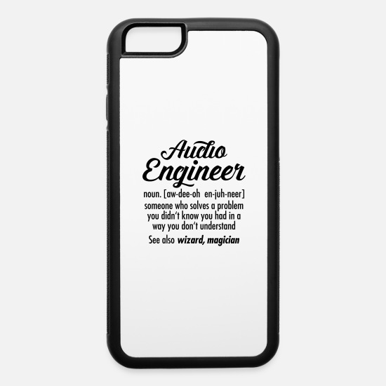Explanation iPhone Cases - Audio Engineer - Definition - iPhone 6 Case white/black