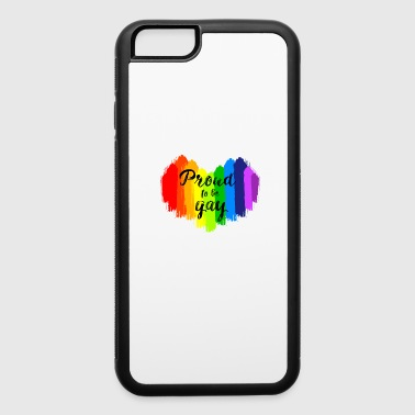 Proud to be Gay LGBT Painting Heart - iPhone 6/6s Rubber Case