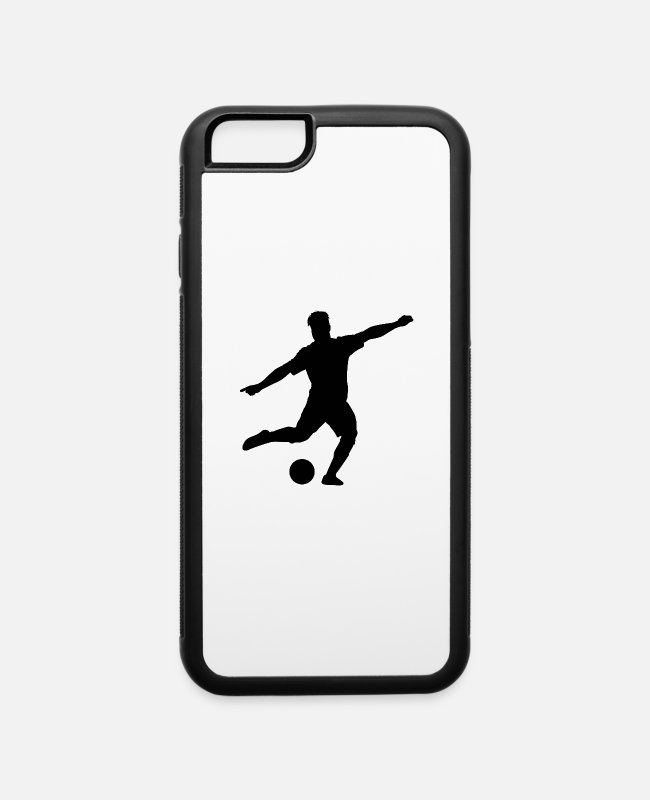 Ball iPhone Cases - Soccer Player Sports Game - iPhone 6 Case white/black