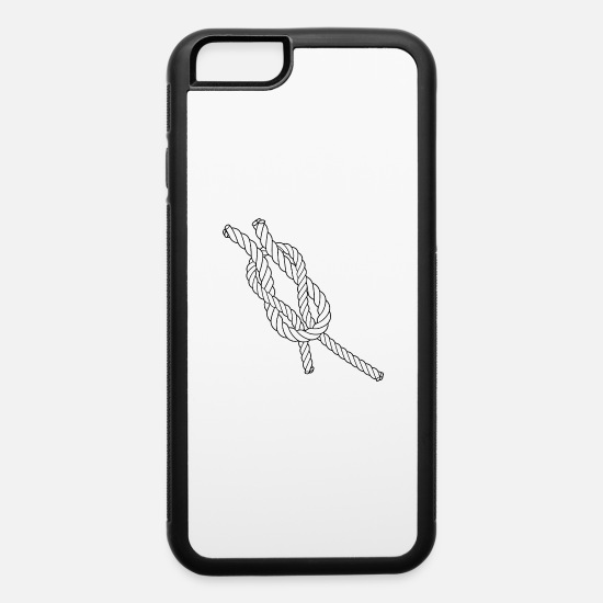 Symbol  iPhone Cases - Everyday Knot Cross Knot - Sailing & Everyday - iPhone 6 Case white/black
