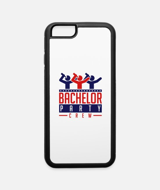 Trio iPhone Cases - drinking_bachelor_party_crew_su2 - iPhone 6 Case white/black