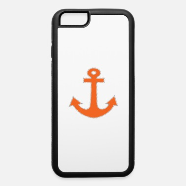 Applique Orange Anchor Captain Nautical Symbol - iPhone 6 Case