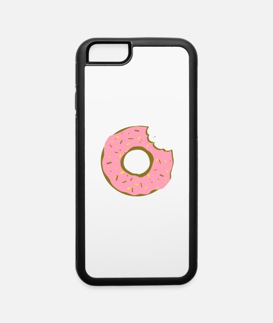 Yummy iPhone Cases - donut doughnut bite - iPhone 6 Case white/black