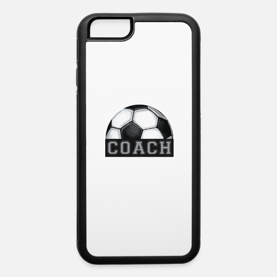 Game iPhone Cases - Coach Soccer Ball Art - iPhone 6 Case white/black