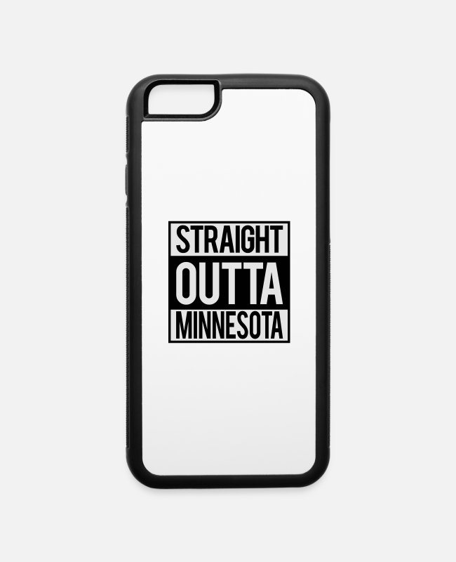 Mn iPhone Cases - Straight Outta Minnesota - iPhone 6 Case white/black