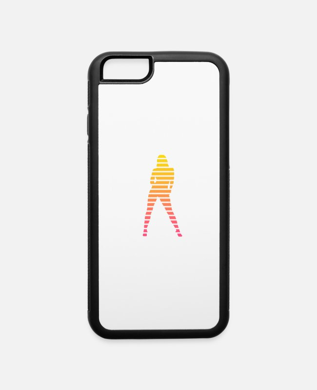 Duotone iPhone Cases - Sexy Babe Silhouette - iPhone 6 Case white/black