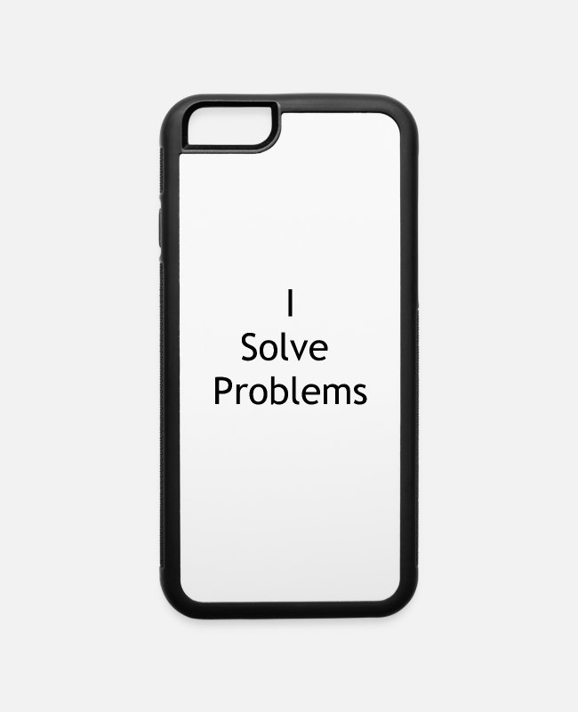 Drinkware iPhone Cases - i solve problems - iPhone 6 Case white/black