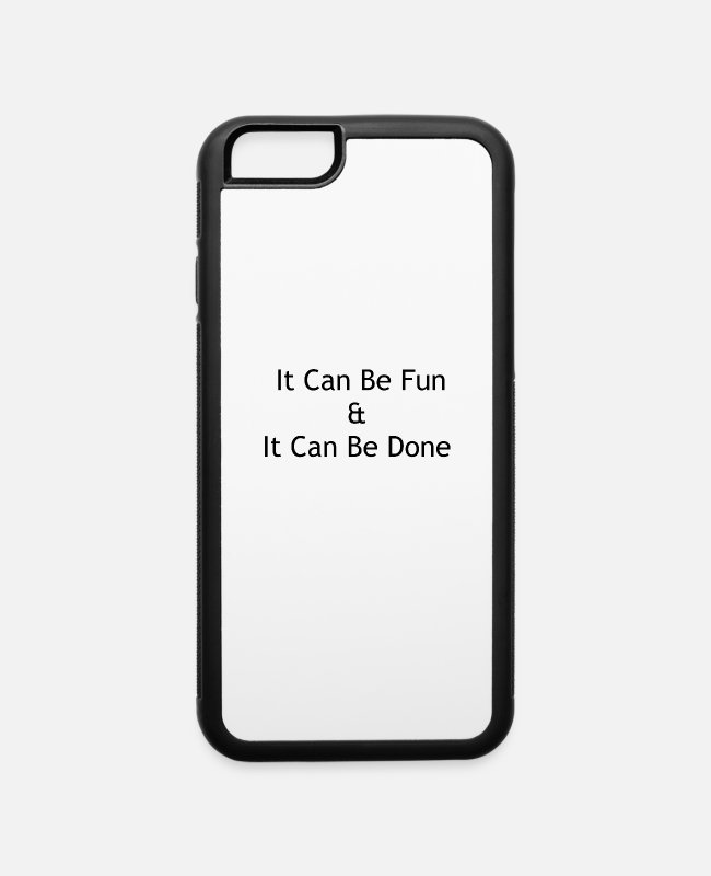 Drinkware iPhone Cases - It can be fun - iPhone 6 Case white/black