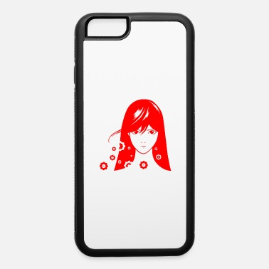 Manga flower girl red manga vector illustration - iPhone 6 Case