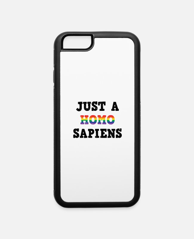 Gay Pride iPhone Cases - LGBT Gay Pride Homosexuality CSD - iPhone 6 Case white/black