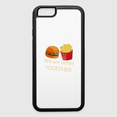 Burger and French Fries - iPhone 6/6s Rubber Case