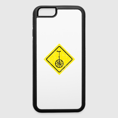 Funny Unicycle Yellow Traffic Sign - iPhone 6/6s Rubber Case