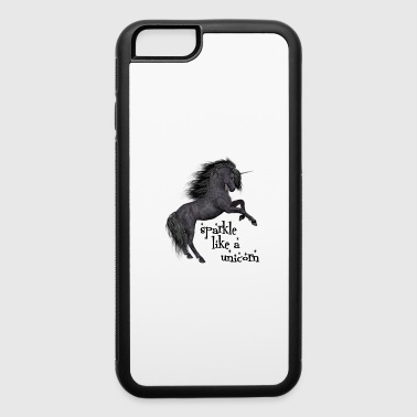 sparkle like a unicorn (black beauty) - iPhone 6/6s Rubber Case